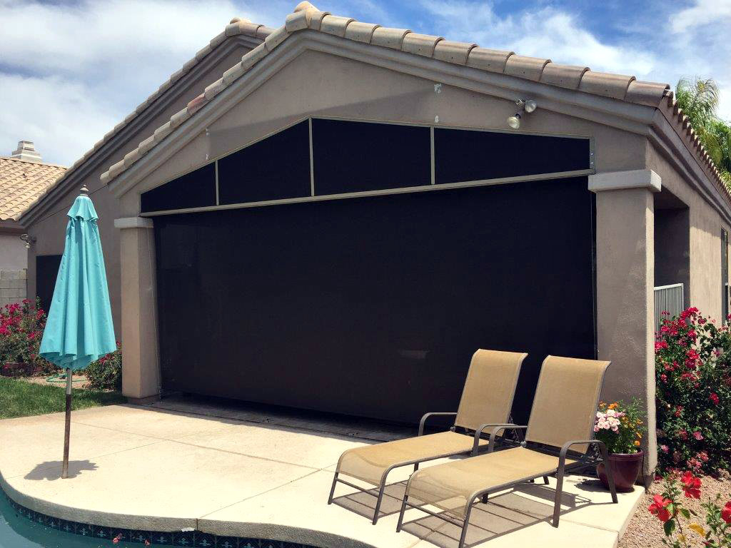 Patio Roll-Up Shades - Arizona Sun Screen