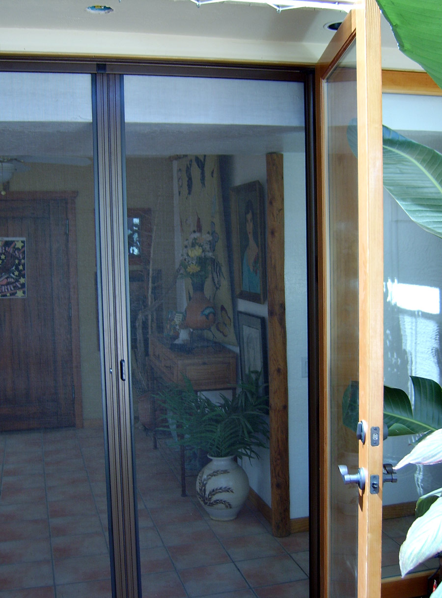 Retractable screen door arizona sun screen for What is the best retractable screen door