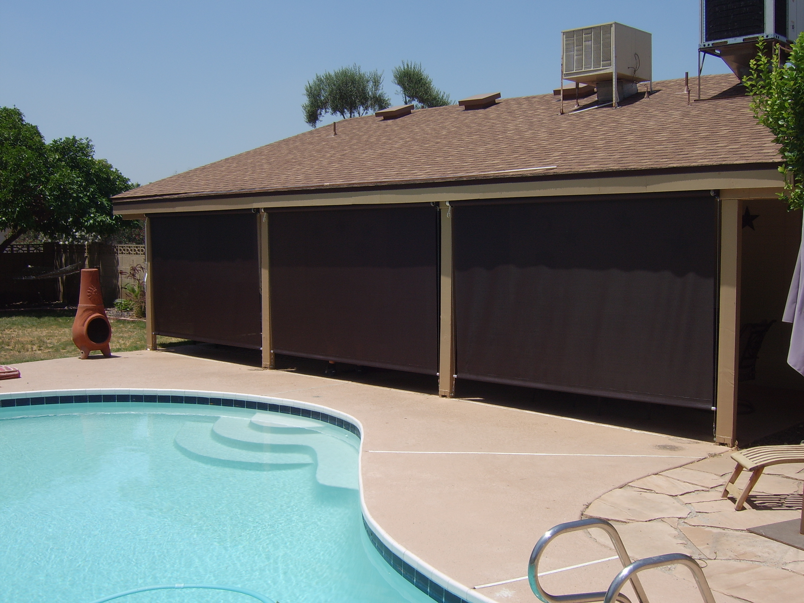 Arizona Sun Screen Patio Shade Screens Crank Roll Up Blinds